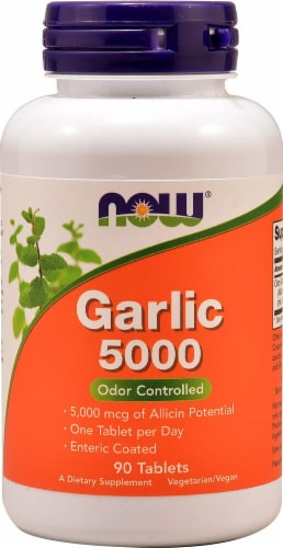 NOW Foods  Garlic 5000 Perspective: front