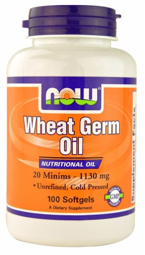 NOW Foods Wheat Germ Oil Softgels 1130mg Perspective: front