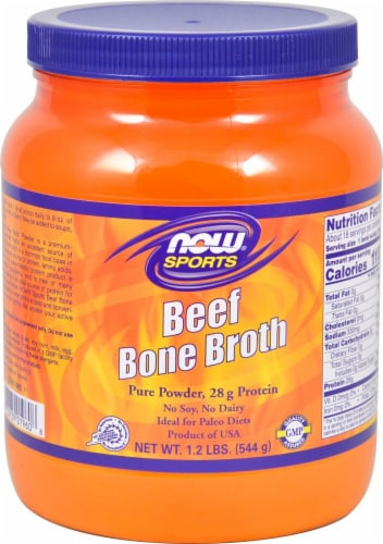 NOW  Sports Beef Broth Perspective: front