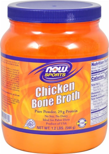 NOW  Sports Chicken Bone Broth Perspective: front