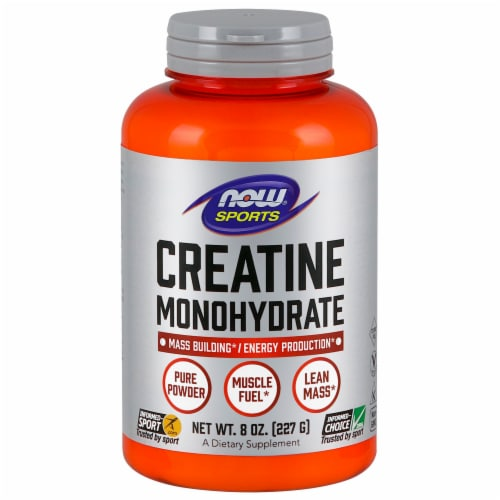 Now Sports Creatine Monohydrate Dietary Supplement Perspective: front