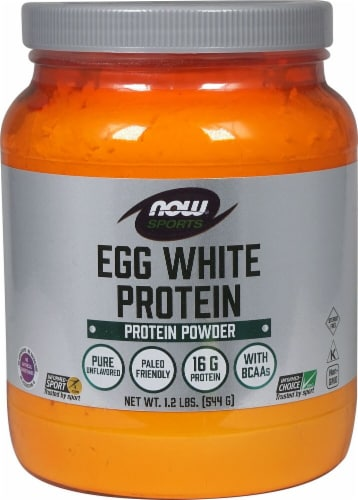NOW   Sports Eggwhite Protein   Unflavored Perspective: front