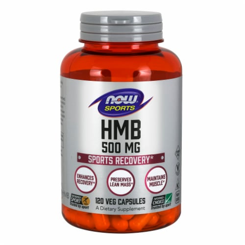 NOW Sports HMB Sports Recovery Veg Capsules 500mg Perspective: front