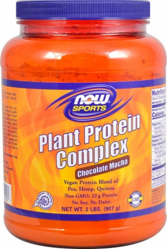 NOW  Sports Plant Protein Complex   Chocolate Mocha Perspective: front