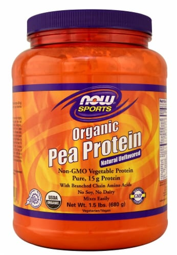 NOW Foods  Sports Organic Pea Protein Powder   Pure Unflavored Perspective: front