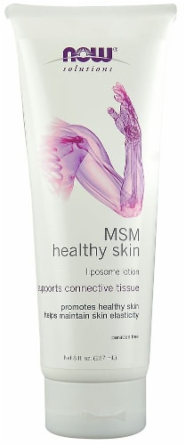 NOW Foods  Solutions MSM Healthy Skin Liposome Lotion Perspective: front