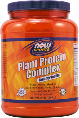 NOW   Sports Plant Protein Complex   Creamy Vanilla Perspective: front