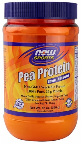 NOW   Sports Pea Protein   Natural Unflavored Perspective: front