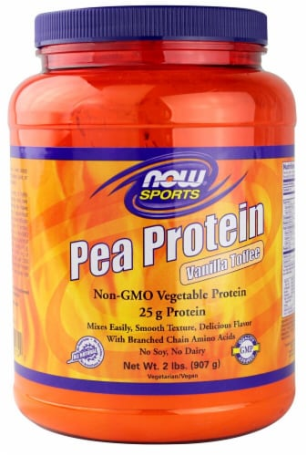 NOW   Sports Pea Protein   Vanilla Toffee Perspective: front
