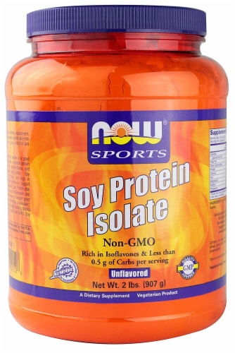 NOW   Sports Soy Protein Isolate   Unflavored Perspective: front
