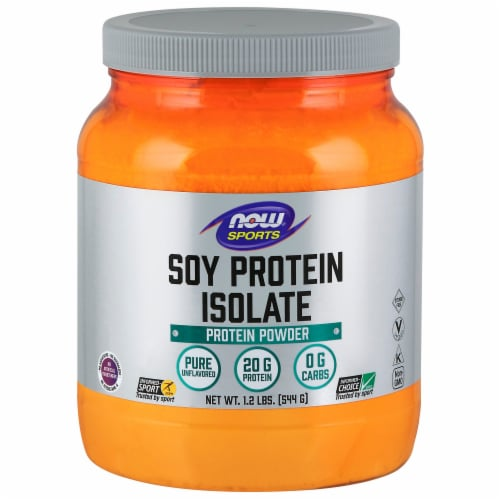 NOW Sports Soy Protein Isolate Protein Powder Perspective: front