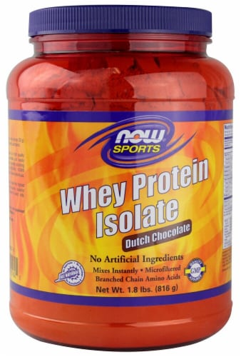 NOW   Sports Whey Protein Isolate   Dutch Chocolate Perspective: front