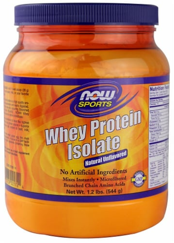 NOW Foods  Sports Whey Protein Isolate   Natural Unflavored Perspective: front