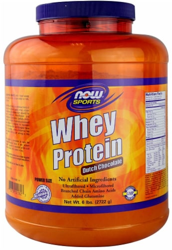 NOW   Sports Whey Protein   Dutch Chocolate Perspective: front