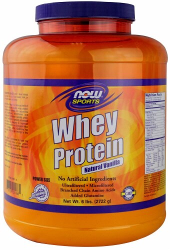 NOW   Sports Whey Protein   Natural Vanilla Perspective: front