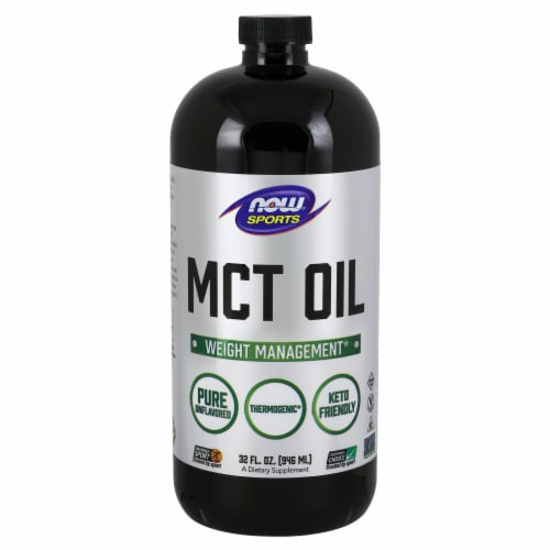 NOW Sports MCT Oil Dietary Supplement Perspective: front