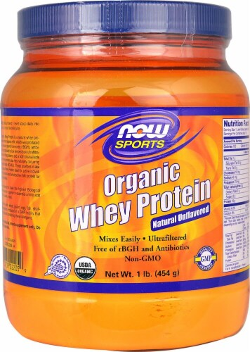 NOW  Sports Organic Whey Protein   Natural Unflavored Perspective: front