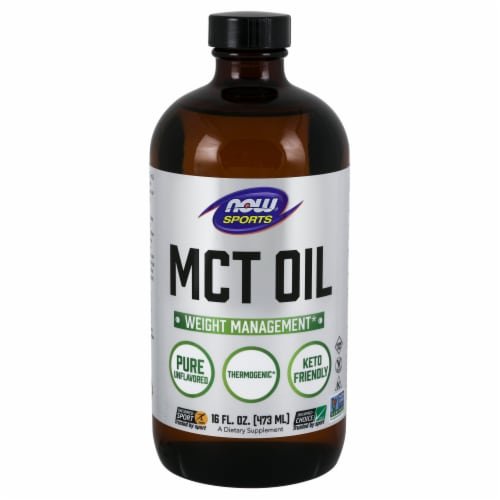 Now Sports Weight Management MCT Oil Dietary Supplement Perspective: front