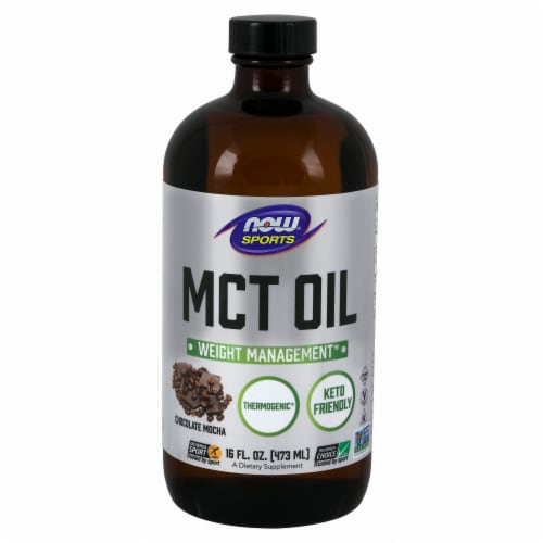 NOW Foods NOW Sports Chocolate Mocha Weight Management MCT Oil Perspective: front