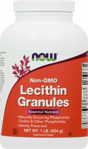 NOW Non-GMO Lecithin Granules Perspective: front