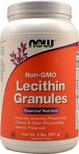 NOW Foods Non-GMO Lecithin Granules Perspective: front