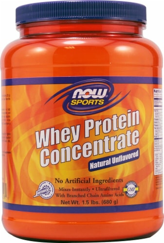 NOW   Sports Whey Protein Concentrate   Unflavored Perspective: front