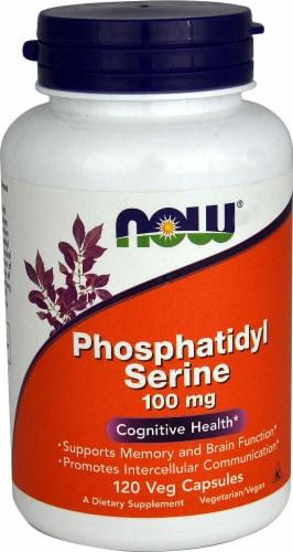 NOW Foods Phosphatidyl Serine Veg Capsules 100mg Perspective: front