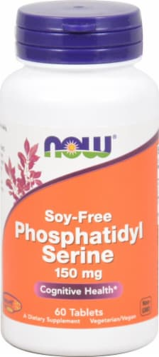 NOW Foods Phosphatidyl Serine Soy Free Tablets 150mg Perspective: front