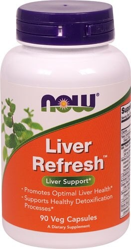 NOW Foods Liver Refresher Veg Capsules Perspective: front