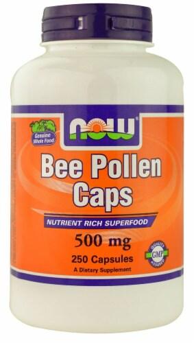 NOW   Bee Pollen Caps Perspective: front