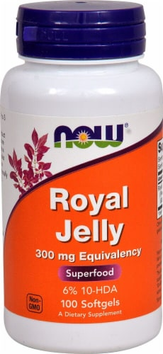 NOW Foods Royal Jelly Softgels 300mg Perspective: front