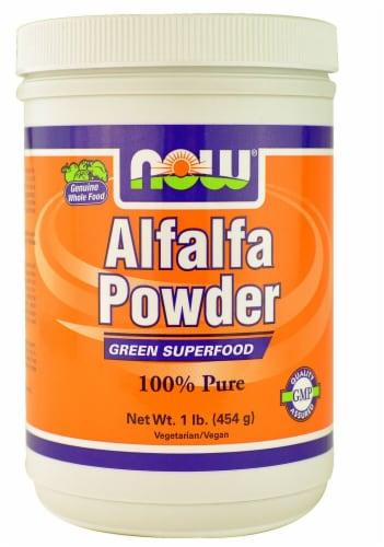 NOW Foods  Alfalfa Powder Perspective: front
