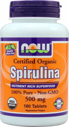 NOW   Organic Spirulina Perspective: front