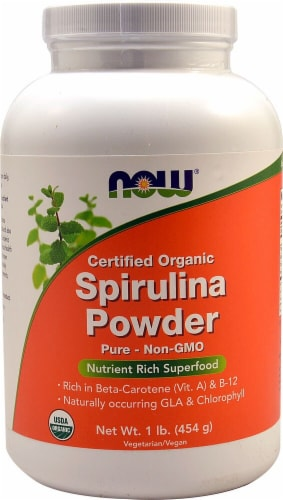 NOW  Organic Spirulina Powder Perspective: front
