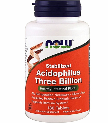 NOW Foods  Stabilized Acidophilus Three Billion Perspective: front