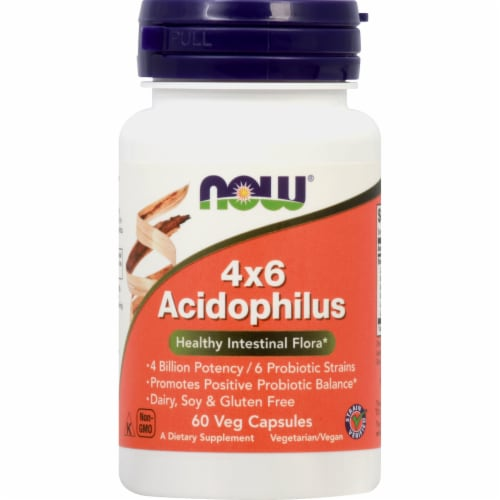 NOW Foods  Acidophilus 4 X 6 Perspective: front