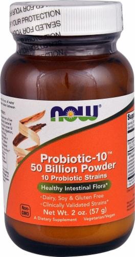 NOW Foods  Probiotic-10™ 50 Billion Powder Perspective: front