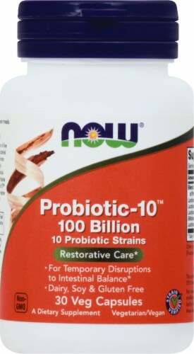 Now Probiotic-10 Veg Capsules Perspective: front