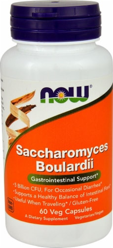 NOW Foods Saccharomyces Boulardii Veg Capsules Perspective: front