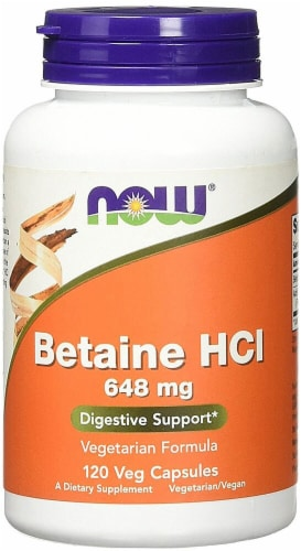 NOW Foods  Betaine HCl Perspective: front