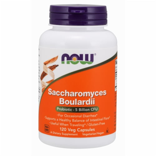 Now Foods Saccharomyces Boulardii 120 Veg Capsules Perspective: front