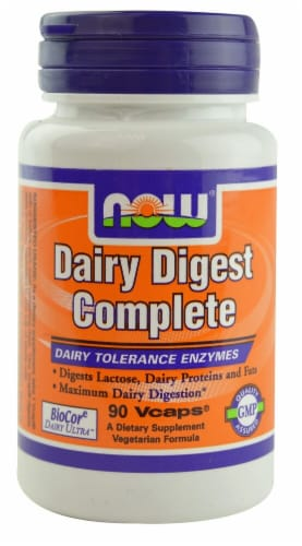 NOW Foods  Dairy Digest Complete Perspective: front