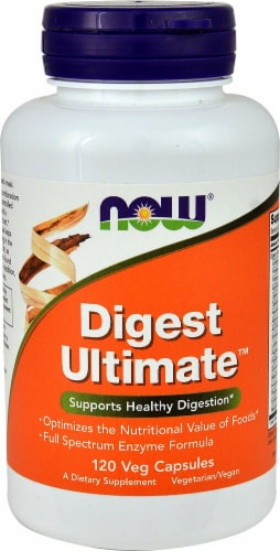 NOW Digest Ultimate® Veg Capsules Perspective: front