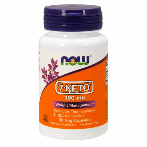 NOW Foods 7-Keto Weight Management Veg Capsules 100mg Perspective: front