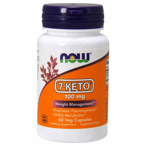 Now 7-Keto 100mg Weight Management Vegan Caplets Perspective: front