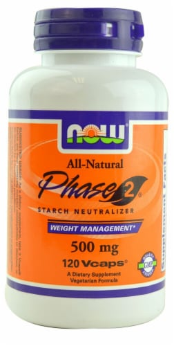 NOW Foods Phase 2 Starch Neutralizer Vcaps Perspective: front