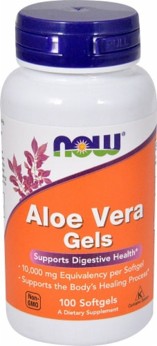 NOW Foods Aloe Vera Gel Softgels Perspective: front