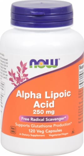 NOW Foods  Alpha Lipoic Acid Perspective: front
