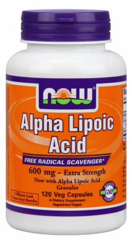 NOW Foods  Alpha Lipoic Acid Extra Strength Perspective: front
