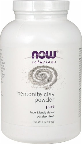 NOW Foods Solutions Bentonite Clay Powder Perspective: front